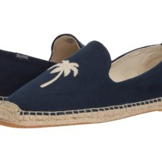 Soludos - Palm Tree Smoking Slipper (Midnight Blue) Men's Slippers