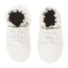 Robeez Special Occasion Soft Soles (Infant) (White Smooth/Black) Boys Shoes
