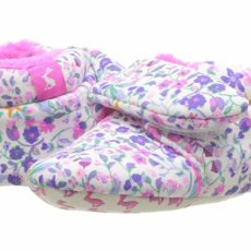 Joules Kids Hook and Loop Strapped Slippers (Infant) (Acorn Ditsy) Girls Shoes