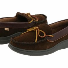 L.B. Evans Atlin (Chocolate Suede W/Terry Lining) Men's Slippers