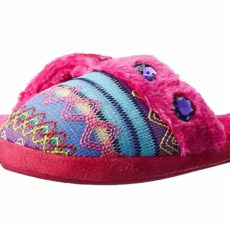 M&F Western Kids Knit Print Slide Slippers (Toddler/Little Kid/Big Kid) (Hot Pink) Girls Shoes