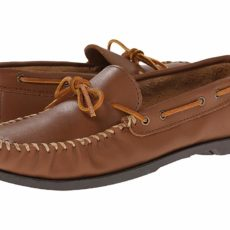 Minnetonka Camp Mocc (Maple Smooth Leather) Men's Slippers