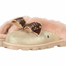 UGG Coquette Sequin Bow Slipper (Gold) Women's Slippers